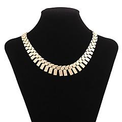 abordables Collares-Mujer Forma Geométrica Rectángulo Coreano Moda De Gran Tamaño Collares de cadena , Legierung Collares de cadena , Festivos Bar
