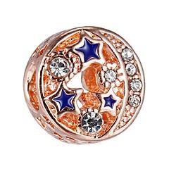 billige Perler- og smykkedesign-DIY Smykker 1 Stk. Perler Legering Rose Guld Bold bead 0.43 cm gør det selv Halskæder Armbånd