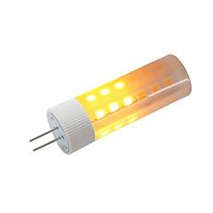 preiswerte LED-Birnen-BRELONG® 1pc 3W 230lm G4 LED Mais-Birnen 36 LED-Perlen SMD 2835 Flammeneffekt Warmes Weiß 12V