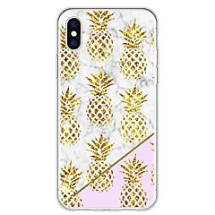 billige iPhone 6 Plus Plus-etuier-Etui Til Apple iPhone X iPhone 8 Plus Mønster Bagcover Frugt Marmor Blødt TPU for iPhone X iPhone 8 Plus iPhone 8 iPhone 7 Plus iPhone 7