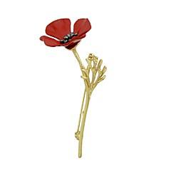 tanie Broszki-Damskie Broszki Biżuteria Rhinestone Prosty Modny Stop Kwiat Gold Biżuteria Na Codzienny Wyjściowe