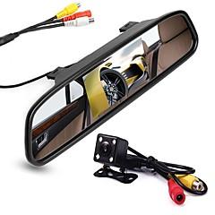 Недорогие Камеры заднего вида для авто-4,3 дюйм TFT-LCD CCD Комплект заднего вида для автомобилей Ночное видение для Автомобиль