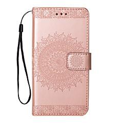 Недорогие Чехлы и кейсы для Galaxy Note 5-Кейс для Назначение SSamsung Galaxy Note 8 Note 5 Флип С узором Чехол Цветы Твердый Кожа PU для Note 8 Note 5