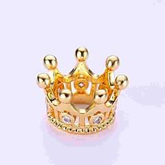 お買い得  ビーズ&ジュエリー製作-DIYジュエリー 1 個 ビーズ イミテーションダイヤモンド 合金 ゴールド シルバー クラウン ビーズ 0.5 cm DIY ネックレス ブレスレット