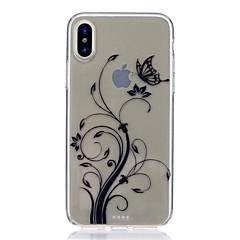 Недорогие Кейсы для iPhone 7-Кейс для Назначение Apple iPhone X iPhone 8 Защита от удара Ультратонкий С узором Задняя крышка Бабочка Мягкий TPU для iPhone X iPhone 8