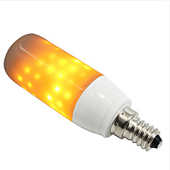 billige LED lyspærer-1pc 3W 250-280lm E14 G9 LED-kolbepærer 76 lysdioder SMD 2835 Flame Effect Gul 1300-1800K Vekselstrøm 85-265V