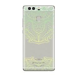 お買い得  Huawei Pシリーズケース/ カバー-ケース 用途 Huawei社P9 Huawei社P9ライト Huawei社P8 Huawei Huawei社P9プラス Huawei社P8ライト Huawei社メイト8 P9 P10 クリア パターン バックカバー レース印刷 ソフト TPU のために P10 Plus