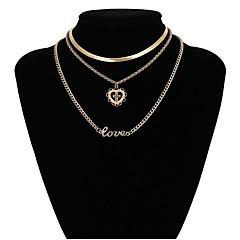 preiswerte Halsketten-Damen Layered Ketten - Kreuz Klassisch, Elegant Gold Modische Halsketten Schmuck Für Abiball, Ausgehen