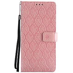 billige Galaxy Note 4 Etuier-Etui Til Samsung Galaxy Note 8 Pung Kortholder Med stativ Flip Præget Heldækkende Blomst Hårdt Kunstlæder for Note 8 Note 4 Note 3