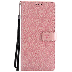 voordelige Galaxy Note 3 Hoesjes / covers-hoesje Voor Samsung Galaxy Note 8 Kaarthouder Portemonnee met standaard Flip Reliëfopdruk Volledig hoesje Bloem Hard PU-nahka voor Note 8