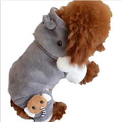 abordables Accesorios y Ropa para Perros-Perro Saco y Capucha Ropa para Perro Una pieza Estilo lindo Un Color Gris Disfraz Para mascotas