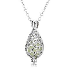 Недорогие Женские украшения-Жен. Свисающие европейский Рок Мода Ожерелья с подвесками , Светящийся камень Сплав Ожерелья с подвесками , На выход
