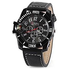 お買い得  メンズ腕時計-JUBAOLI 男性用 / 女性用 リストウォッチ 中国 カジュアルウォッチ / クール 合金 バンド 光沢タイプ ブラック / 白