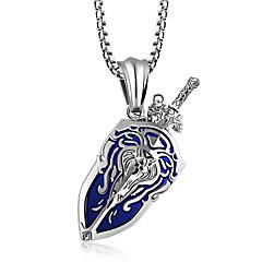 Недорогие Ожерелья-Муж. Ожерелья с подвесками - Мода Золотой, Черный, Серебряный Ожерелье Бижутерия Назначение Повседневные
