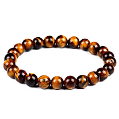 cheap Men's Jewelry-Men's Women's Bracelet Strand Bracelet Onyx Tiger Eye Stone Vintage Bohemian Fashion Agate Circle Jewelry Gift Evening Party Costume