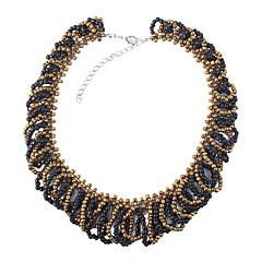 お買い得  ネックレス-女性用 円形 ヴィンテージ 欧風 ファッション カラー , 樹脂 合金 カラー 、 日常