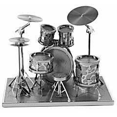 ieftine -Puzzle 3D Puzzle Metal Rotund Set de tobe Jazz Drum Rafinat Confecționat manual Interacțiunea părinte-copil MetalPistol Muzică