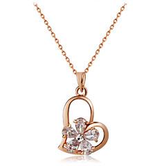 preiswerte Halsketten-Damen Kristall Anhängerketten - Roségold, Krystall Herz lieblich Gold Modische Halsketten Schmuck 1 Für Hochzeit, Formal