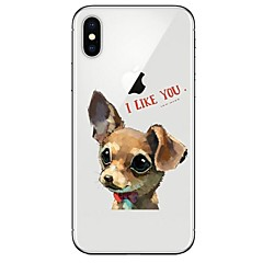cheap iPhone Cases-Case For Apple iPhone X iPhone 8 Ultra-thin Transparent Pattern Back Cover Dog Soft TPU for iPhone X iPhone 8 Plus iPhone 8 iPhone 7 Plus