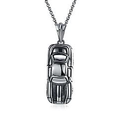 Недорогие Ожерелья-Муж. Геометрический принт Ожерелья с подвесками - Нержавеющая сталь европейский, Мода Серебряный Ожерелье 1 Назначение Выпускной, Свидание