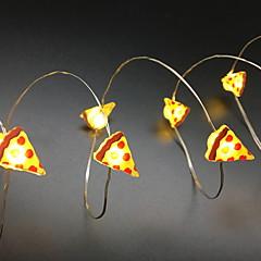 preiswerte LED Lichtstreifen-2 M Leuchtgirlanden 20 LEDs 2M Lichterkette Warmes Weiß 1 set
