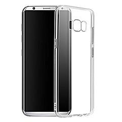 voordelige Galaxy S6 Hoesjes / covers-hoesje Voor Samsung Galaxy S9 S9 Plus Transparant Achterkant Effen Kleur Zacht TPU voor S9 Plus S9 S8 Plus S8 S7 edge S7 S6 edge S6 S5