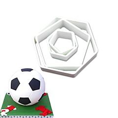 お買い得  ベイキング用品&ガジェット-ケーキ型 サッカー キャンディのための ケーキのための チョコレートのための Cupcake ケーキ プラスチック ステンレス鋼430 DIY バレンタイン・デー 誕生日 3D ベーキングツール