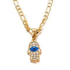 お買い得  ネックレス-男性用 / 女性用 クリスタル ペンダントネックレス  -  ゴールドメッキ ファッション ゴールド ネックレス 1 用途 誕生日, 贈り物