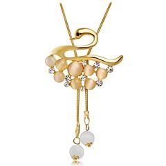 preiswerte Halsketten-Damen Kubikzirkonia / Katzenauge Chrysoberyl Anhängerketten - Roségold, Zirkon, Opal Schwan, Tier Modisch Gold Modische Halsketten 1 Für Hochzeit, Party