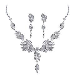 abordables Juegos de Joyería-Mujer Zirconia Cúbica Geométrico Conjunto de joyas - Zirconio, Plateado Gota Incluir Plata Para Boda Fiesta de Noche / Pendientes
