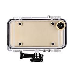 Недорогие Кейсы для iPhone-Кейс для Назначение Apple iPhone 6 Водонепроницаемый Прозрачный Чехол Сплошной цвет Твердый Ластик для iPhone 6s Plus iPhone 6s iPhone 6