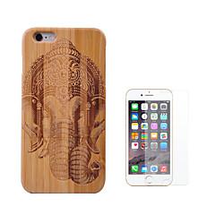 Недорогие Кейсы для iPhone-Кейс для Назначение Apple iPhone 6 Plus Защита от удара Чехол Животное Твердый Бамбук для iPhone 6s Plus iPhone 6 Plus