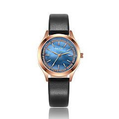 preiswerte Damenuhren-KEZZI Damen Modeuhr Armbanduhr Japanisch Quartz Armbanduhren für den Alltag Cool PU Band Analog Freizeit Schwarz / Weiß / Blau - Rot Blau Rosa