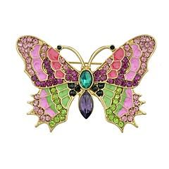 halpa Rintakorut-Naisten Rintaneulat - Butterfly naiset, Yksinkertainen, Perus Rintaneula Korut Kulta Käyttötarkoitus Päivittäin / Uusivuosi