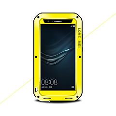 Χαμηλού Κόστους Θήκες / Καλύμματα για Huawei-tok Για Huawei P9 Νερού / Dirt / Shock Απόδειξη Πλήρης Θήκη Συμπαγές Χρώμα Σκληρή Μεταλλικό για Huawei P9 Plus Huawei P9