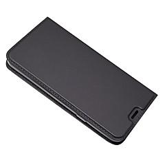 Недорогие Чехлы и кейсы для LG-Кейс для Назначение LG Q6 Бумажник для карт со стендом Чехол Сплошной цвет Твердый Кожа PU для LG Q6