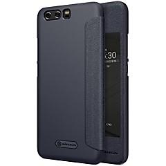 お買い得  Huawei Pシリーズケース/ カバー-huawei p10プラスp10 for windowsフリップフロストオートスリープ/ウェイクアップフルボディケースp10 plus p10用ソリッドカラーハードpuレザー