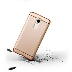 Недорогие Чехлы и кейсы для Xiaomi-Кейс для Назначение Xiaomi Redmi Note 4X / Redmi Note 4 Защита от удара / Ультратонкий Чехол Однотонный Твердый ПК для Xiaomi Redmi Note 4X / Xiaomi Redmi Note 4 / Xiaomi Redmi 4