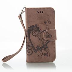 Недорогие Чехлы и кейсы для Nokia-Кейс для Назначение Nokia Lumia 650 Lumia 640 Бумажник для карт Кошелек со стендом Флип Рельефный Чехол Сплошной цвет Бабочка Твердый