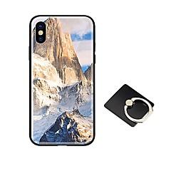 Недорогие Кейсы для iPhone-Кейс для Назначение Apple iPhone X iPhone 8 со стендом Ультратонкий С узором Кейс на заднюю панель Пейзаж Геометрический рисунок Твердый