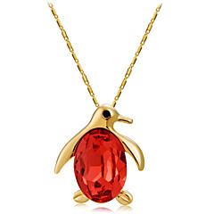 preiswerte Halsketten-Damen Kristall Anhängerketten - Roségold, Krystall Vogel, Tier Modisch Dunkelrot Modische Halsketten Für Zeremonie, Formal