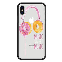 Недорогие Кейсы для iPhone X-Кейс для Назначение Apple iPhone X / iPhone 8 Plus С узором Кейс на заднюю панель Продукты питания / Мультипликация Твердый Акрил для iPhone X / iPhone 8 Pluss / iPhone 8