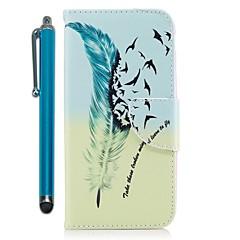 Недорогие Чехлы и кейсы для Huawei Mate-Кейс для Назначение Huawei Mate 10 lite Mate 10 Бумажник для карт Кошелек со стендом Флип Магнитный Чехол Перья Твердый Кожа PU для Mate