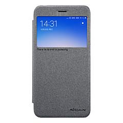 Недорогие Чехлы и кейсы для Xiaomi-Кейс для Назначение Xiaomi Redmi 5A с окошком Флип Матовое Чехол Сплошной цвет Твердый Кожа PU для Redmi 5A