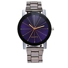 preiswerte Damenuhren-Herrn Damen Quartz Modeuhr Armbanduhren für den Alltag Chinesisch Chronograph Großes Ziffernblatt Edelstahl Band Minimalistisch Modisch