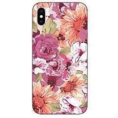 Недорогие Кейсы для iPhone 6 Plus-Кейс для Назначение Apple iPhone X / iPhone 8 С узором Кейс на заднюю панель Цветы Мягкий ТПУ для iPhone X / iPhone 8 Pluss / iPhone 8