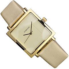 preiswerte Damenuhren-REBIRTH Damen Armbanduhren für den Alltag Japanisch Quartz 30 m Armbanduhren für den Alltag Echtes Leder Band Analog Freizeit Schwarz / Weiß / Gelb - Weiß Schwarz Gelb Ein Jahr Batterielebensdauer