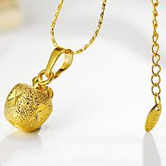 お買い得  ネックレス-女性用 Apple 形状 シンプル かわいい ペンダントネックレス , ゴールドメッキ ペンダントネックレス 贈り物 日常 コスチュームジュエリー