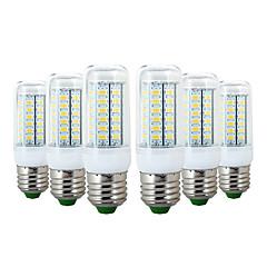preiswerte LED-Birnen-YWXLIGHT® 6pcs 6W 600-700lm E26 / E27 LED Mais-Birnen 56 LED-Perlen SMD 5730 Warmes Weiß Kühles Weiß 110-130V 220-240V