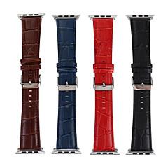 voordelige Apple Watch-bandjes-Horlogeband voor Apple Watch Series 3 / 2 / 1 Apple Leren lus Leer Polsband